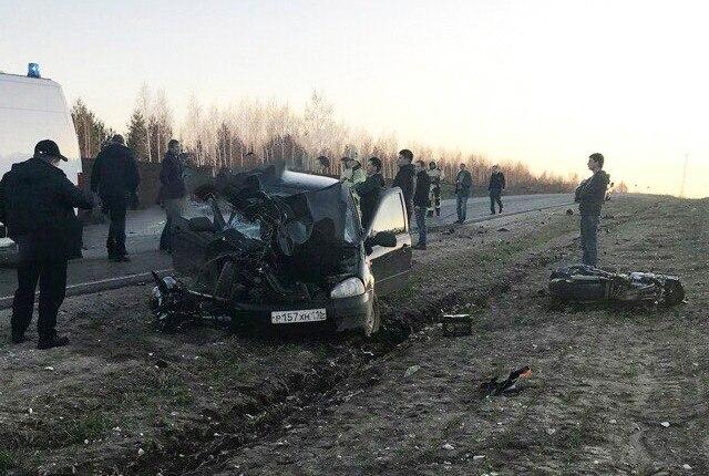 41-летний мотоциклист погиб на трассе в Казани