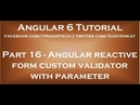 Angular reactive form custom validator with parameter
