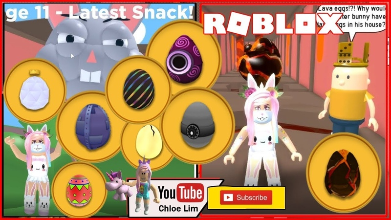 🐰 Roblox Escape the Easter Bunny Obby Gameplay! 8 Hidden Eggs but I only found 6! LOUD WARNING!