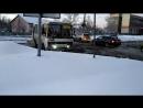 В Бийске после весеннего снегопада дорога превратилась в ад 31.03.18