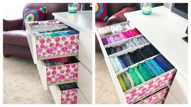 How I Organize Embellish My Dresser Konmari Drawer Organization DIY Dividers