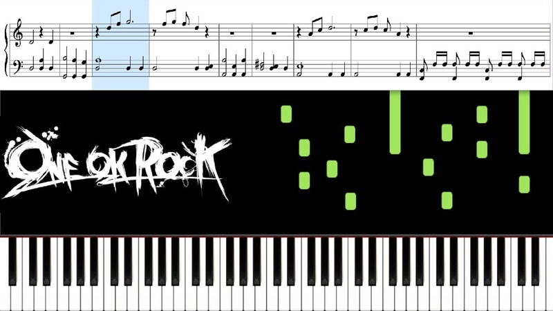 カサブタ (ONE OK ROCK) - Piano Tutorial Sheets