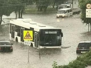 В Красноярске устранили последствия сильного ливня
