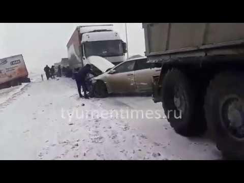 18 автомобилей в массовом ДТП, Тюмень-Боровский, 10 км., 15.03.2019
