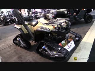 2018 Yamaha Kodiak 450 Camo with Camso ATV R4S Trail Kit - Walkaround 2017 Toronto ATV Show