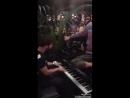 Darren performing at the PortsV dinner event in Milan. In attendance Chadwick Boseman, Harrison Osterfield, David Furnish, Dan D