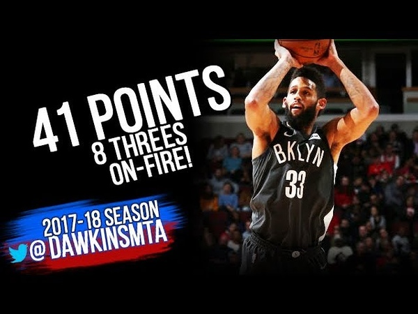 Allen Crabbe Full Highlights 2018.4.9 Brooklyn Nets vs Bulls - 41 Pts, 8 Threes! | FreeDawkins
