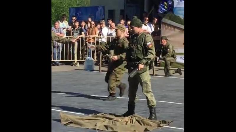День Победы.Выступление отряда специального назначения
