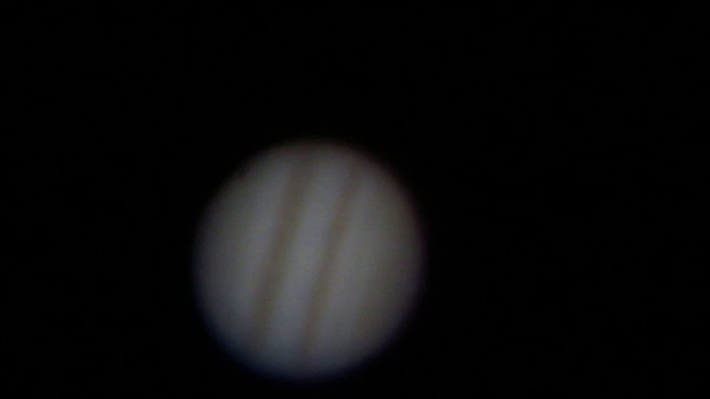 Jupiter through telescope