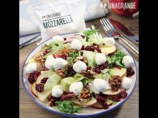 Салат с яблоком и мини-моцареллой