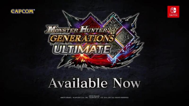 Monster Hunter Generations Ultimate - Capcom Crossovers трейлер