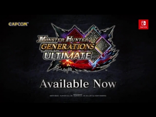 Monster Hunter Generations Ultimate - Capcom Crossovers трейлер