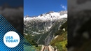 All aboard a stunning train ride through the Swiss Alps