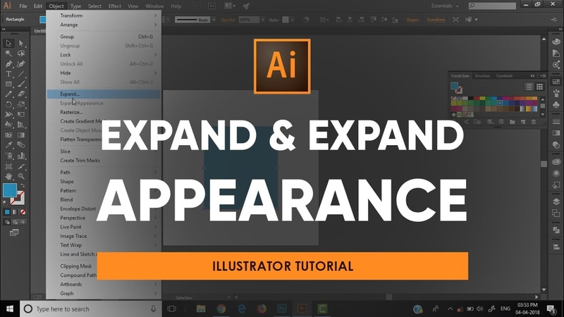 Using Expand and Expand Appearance | Adobe Illustrator Tutorial