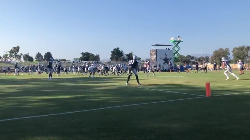Hurried throw from Dak caused by Randy CowboysCamp Day 14