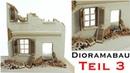 Hausruine selber bauen Tiger 1 Winter-Diorama 135 Modellbau Teil 3