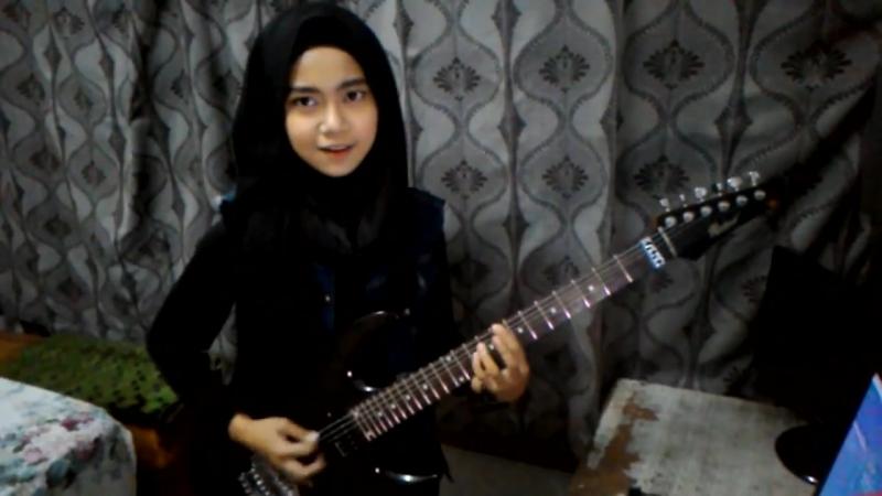 Judas Priest - Painkiller (Mini cover of Virtuosic young guitarist, Meliane city Sumartin)