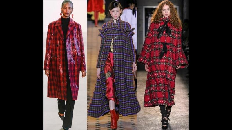 Пальто в клетку - модные фасоны для женщин.