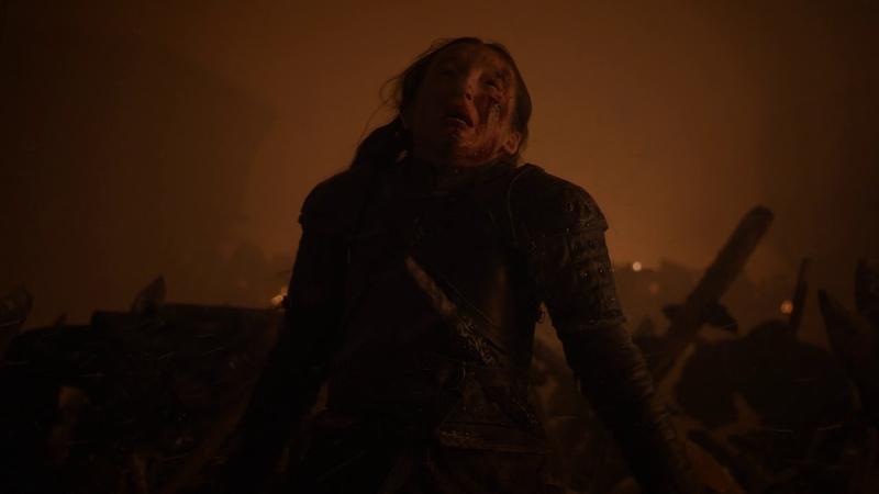 Лианна Мормонт убивает Великана Игра Престолов 8 сезон 3 серия