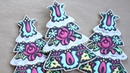 Christmas Cookies Christmas Tree Cookie Inspired by Hungarian Floral Pattern Satisfying video