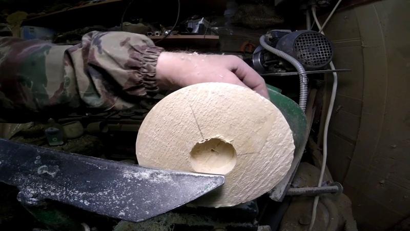 Точение деревянной тарелки на токарном станке