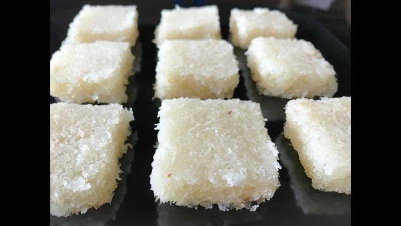 Fresh Coconut Burfi in 15 min   Kobbari Mithai Recipe   Indian Traditional Sweet