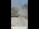 Египет.Синай.2017.Момент попадания гранаты ПГ-7 в М-60 правительственных сил выпущенной боевиками Вилаят Синай