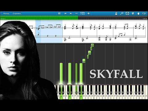 Adele - Skyfall. Музыка из фильма Джеймс Бонд 007. Обучающее видео. Пианино