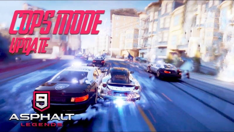 ASPHALT 9: LEGENDS - COPS MODE UPDATE - GAMEPLAY (iOS/Android)