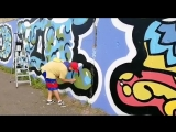 Самое большое графити в Красноярске