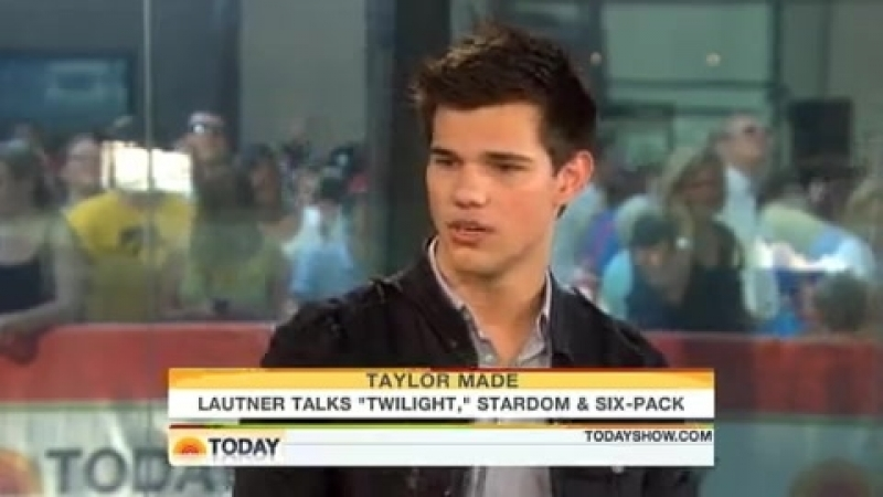 Taylor Lautner Interview On The Today Show (June 28)
