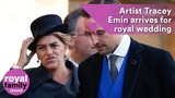 Artist Tracey Emin arrives for Princess Eugenie's wedding