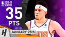 Devin Booker Full Highlights Suns vs Nuggets 2019.01.25 - 35 Points
