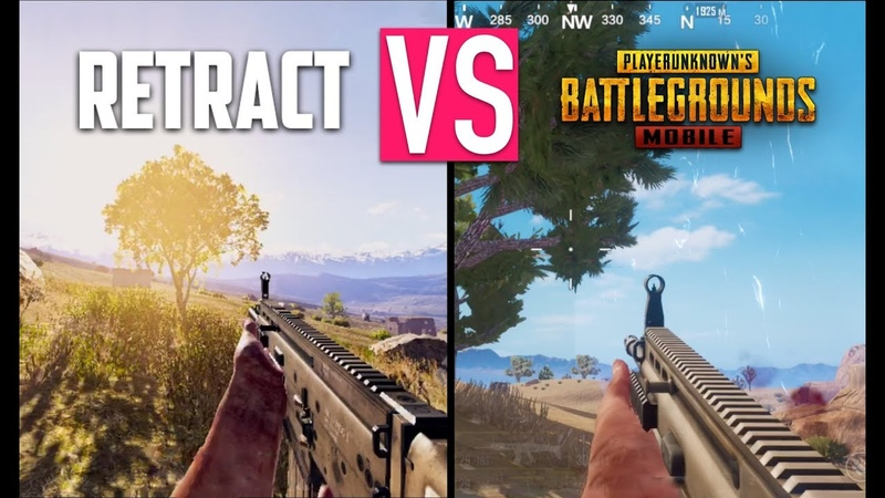 RETRACT BATTLE ROYALE VS PUBG MOBILE GRAPHICS COMPARISON iOS Android Gameplay