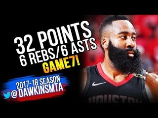 James Harden Full Highlights 2018 WCF Game 7 Warriors vs Houston Rockets - 32-6-6! | FreeDawkins