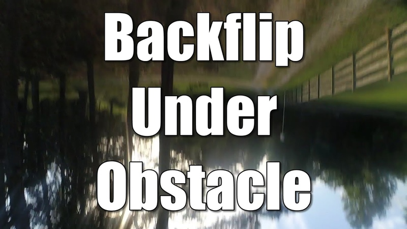 How To Do Backflip Under An Obstacle | QUADCOPTER TRICK TUTORIAL