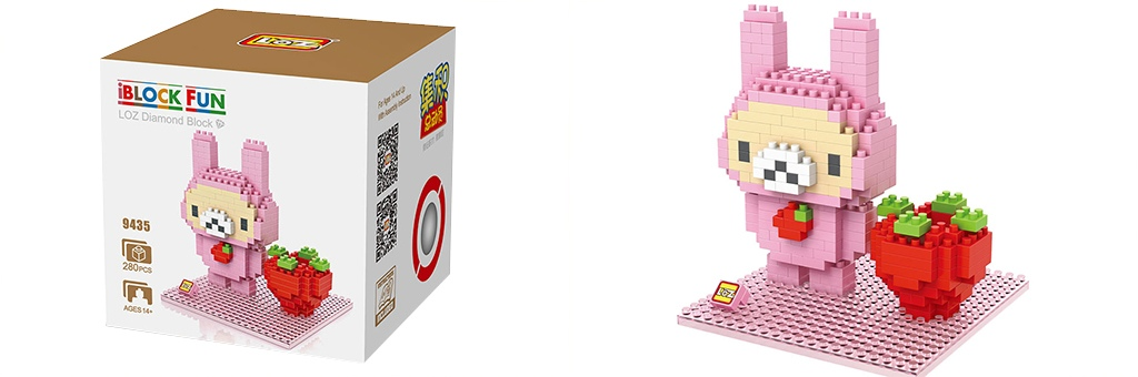 "Конструктор LOZ Diamond Block iBlock Fun ""Розовый кролик"" 9435"
