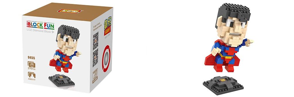 """Конструктор LOZ Diamond Block iBlock Fun """"Супермен"""" 9455"""