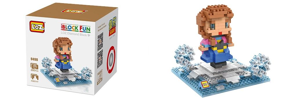 """Конструктор LOZ Diamond Block iBlock Fun """"Принцесса Анна"""" 9498"""