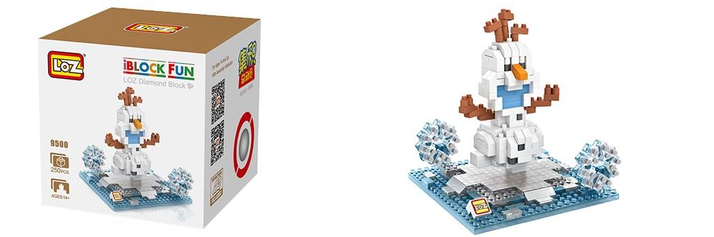 """Конструктор LOZ Diamond Block iBlock Fun """"Олаф"""" 9500"""
