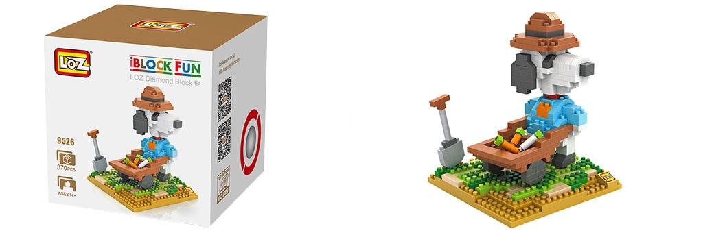 "Конструктор LOZ Diamond Block iBlock Fun ""Снупи фермер"" 9526"
