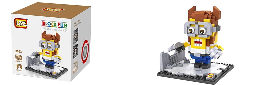 """Конструктор LOZ Diamond Block iBlock Fun """"Миньон Росомаха"""" 9543"""
