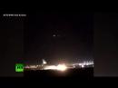 Жёсткая посадка самолёта без шасси попала на видео