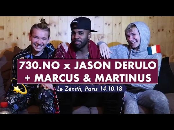 Interview to Jason Derulo and Marcus Martinus in Paris