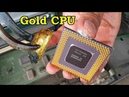 Видео How to recycle gold from cpu computer scrap. value of gold in cpu ceramic processors pins chip.