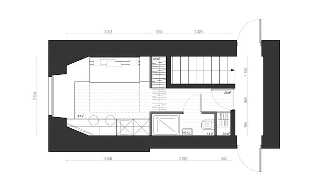 Квартира-студия (14м2)
