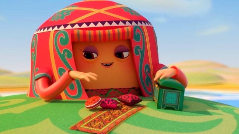 Домики Юрта Обучающий мультфильм для детей о калмыкии