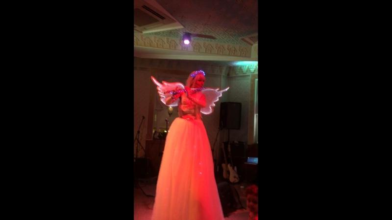 Flute angel on stilts Varvara Priz