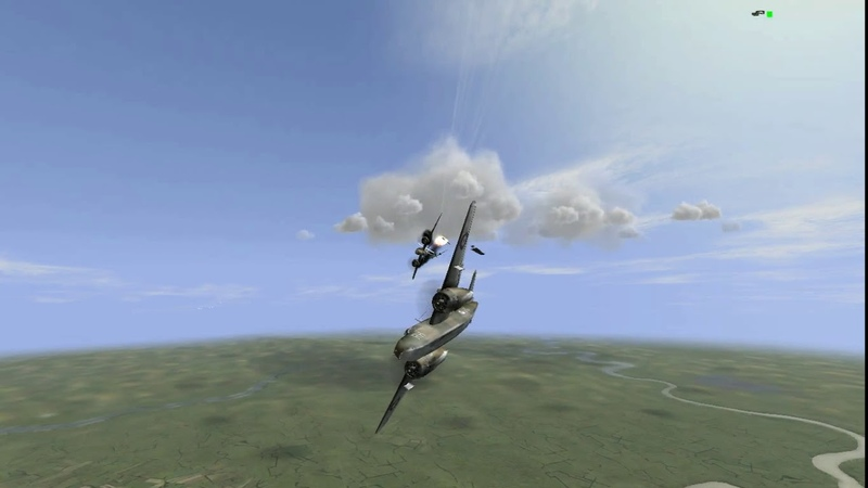 Bf.110 G-2. AoE. Атака цели и перехват.