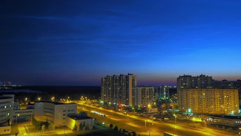 Белые ночи Санкт-Петербург. Ночное небо Питера.